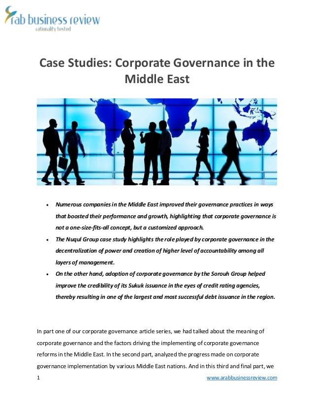 corporate governance case studies