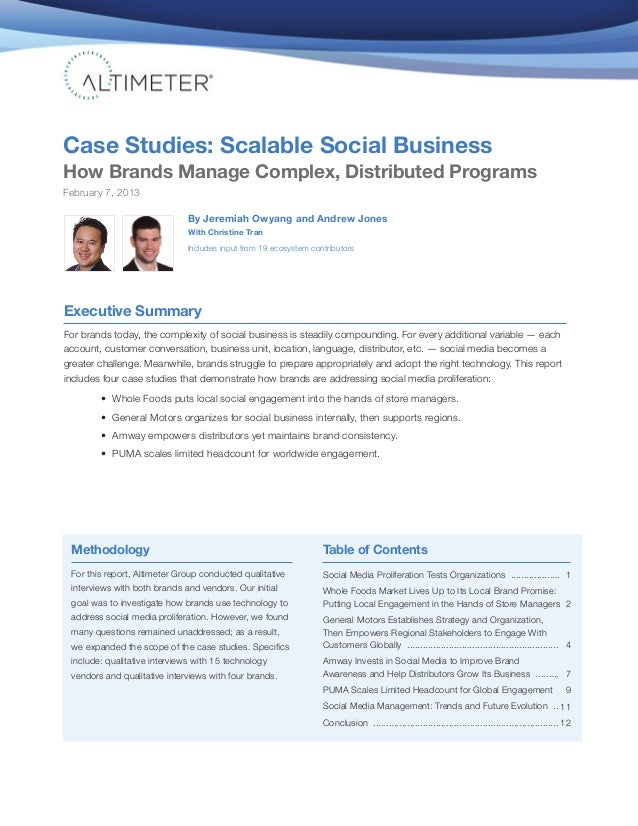 Case Studies: Scalable Social BusinessHow Brands Manage Complex, Distributed ProgramsFebruary 7, 2013                     ...