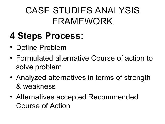 steps in solving a case study
