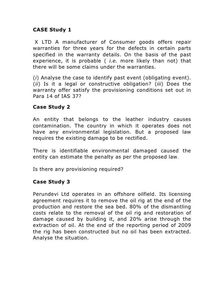 Case Study Analysis Length