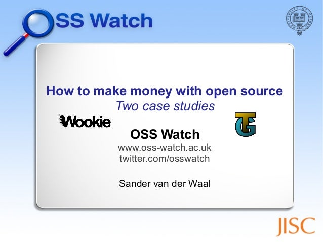 How to make money with open source