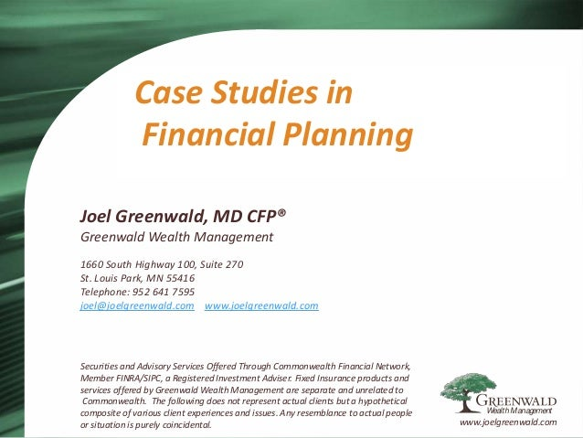 Financial planning case studies canada