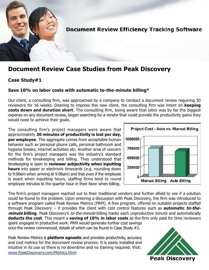 Peak Review Metrics: Case Studies and ROI