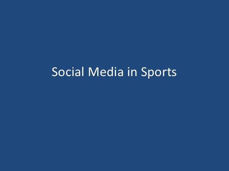 Social Media in Sports