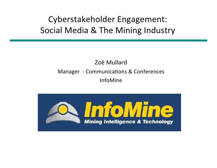 Case studies web 2.0 and the mining industry