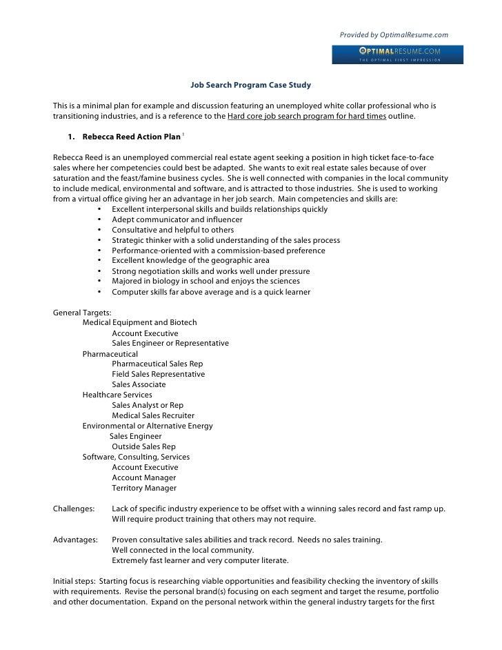 Case Study: Job Seeker Action Plan