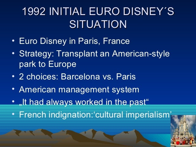 case study of euro disney mgmt Disneyland paris, originally euro disney resort, is an entertainment resort in  marne-la-vallée,  a study done by the inter-ministerial delegation reviewing  disneyland paris' contribution  jump up to: thunderbird case studies ' eurodisneyland' (pdf) wwwthunderbirdedu  management today,  september 1989, pp.