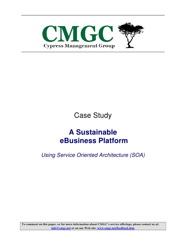 Case Study                                A Sustainable                             eBusiness Platform               Using...