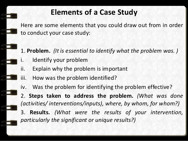 How to conduct a case study
