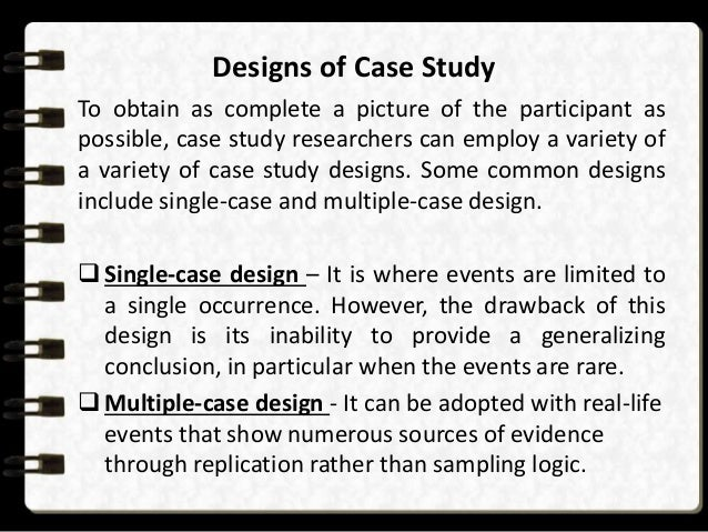 Complete a case study