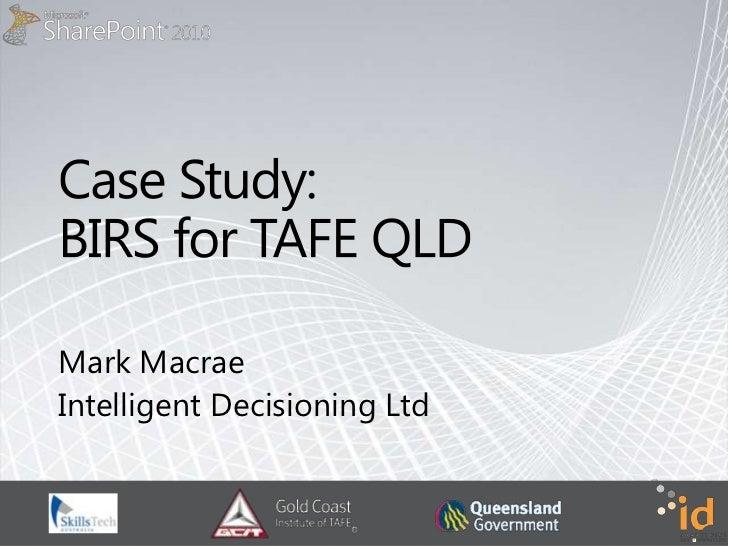 Case Study - BI Dashboards for TAFE Queensland
