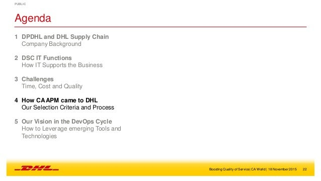 case study supply chain management dhl