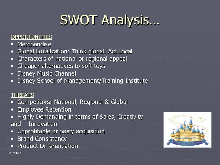 swot analysis of walt disney The walt disney company (dis) - financial and strategic swot analysis review- provides you an in-depth strategic swot analysis of.