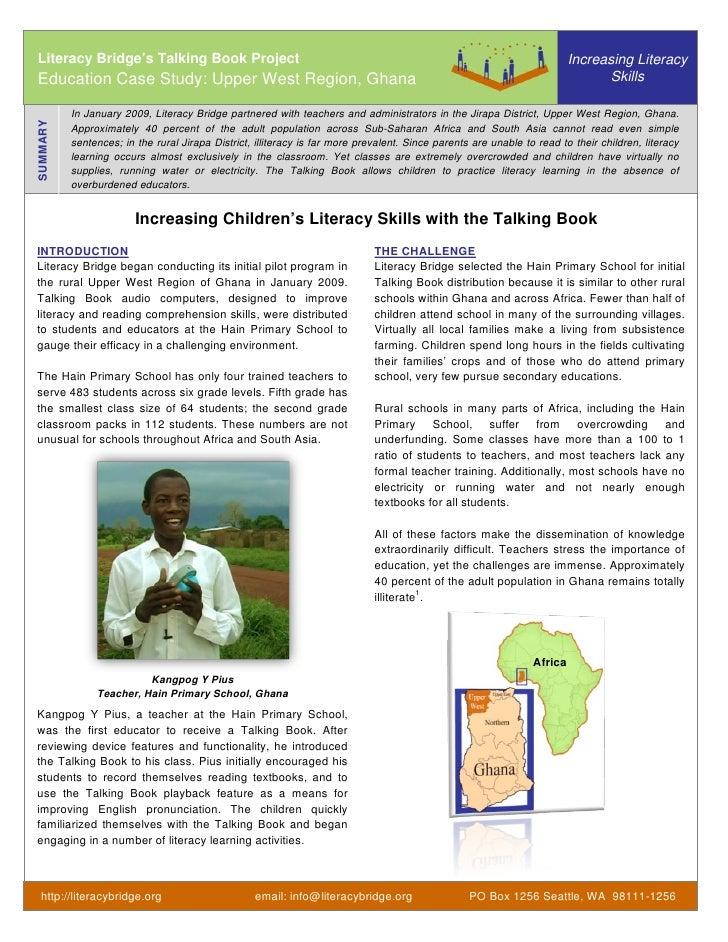 Literacy Bridge's Talking Book Project                                                                                   I...