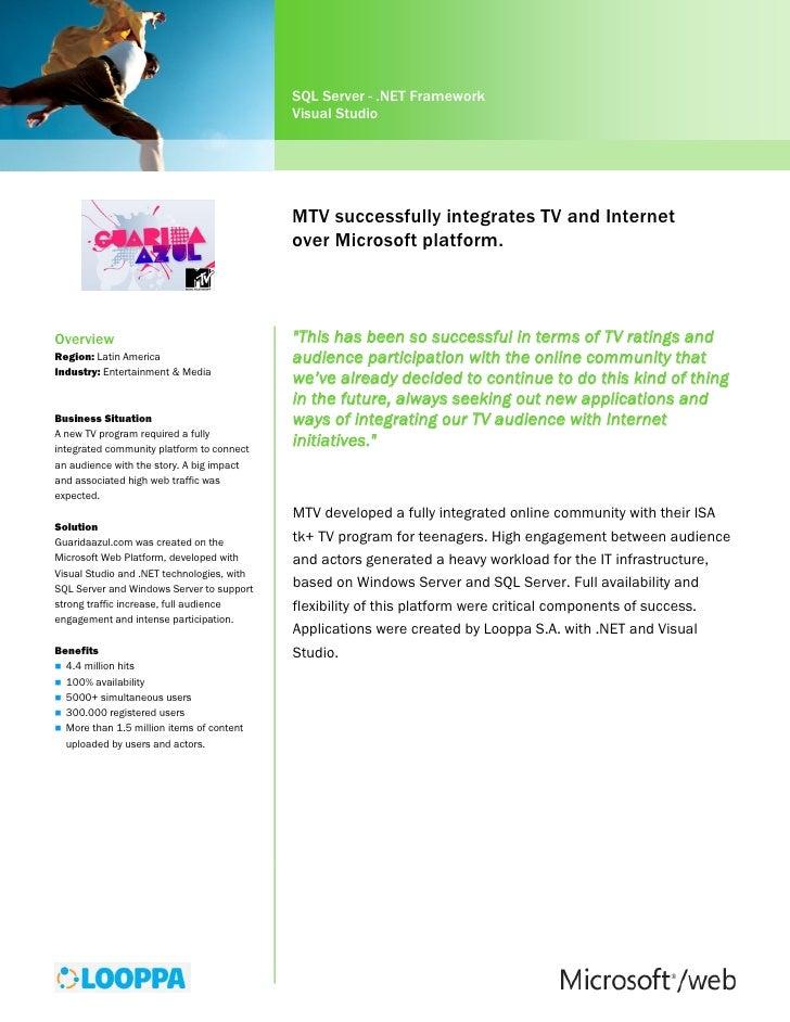 Microsoft about the MTV Case study