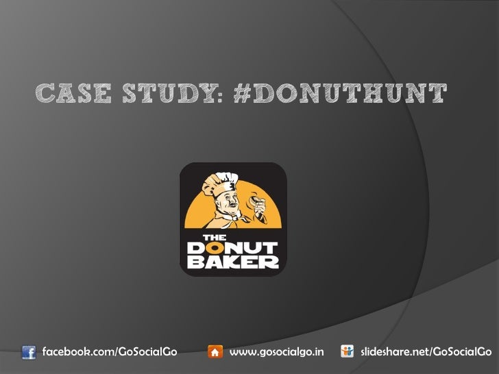 Case Study  - The Donut Baker
