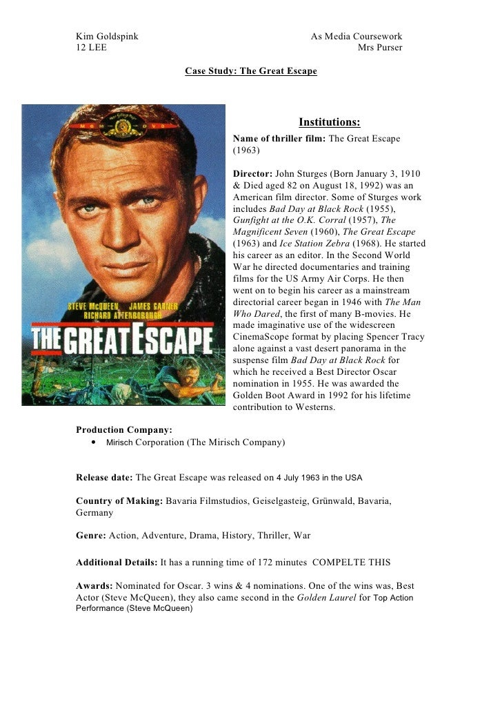Case Study -  The Great Escape