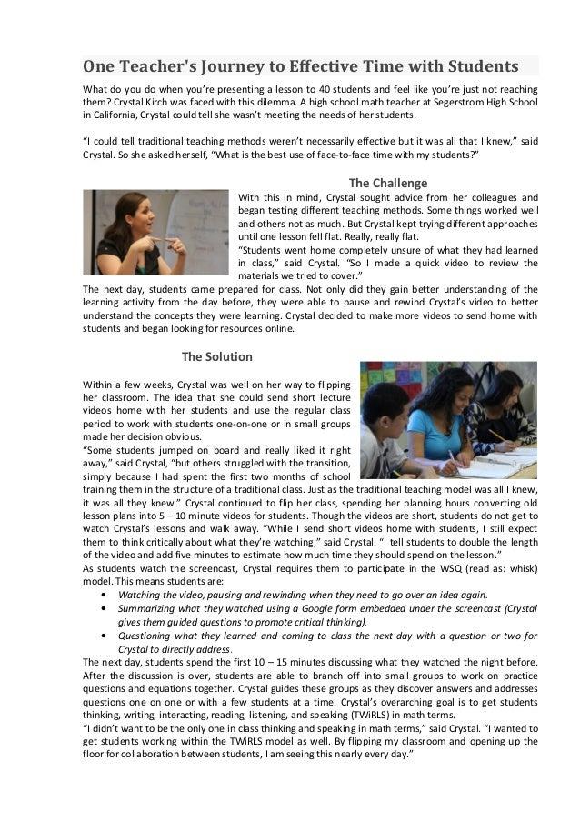 Case study 1 flipped classroom