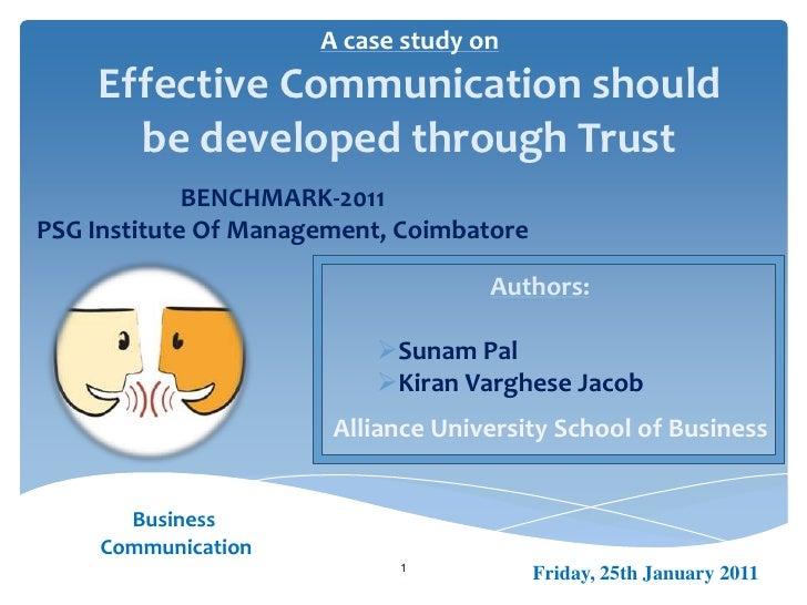 Case Study on Business Communication