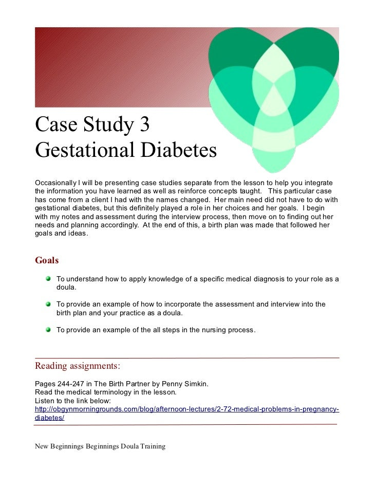case studies on diabetes Case study a case of hypertension in diabetes this case study aims to help understand the association between hypertension and type 2 diabetes mellitus.