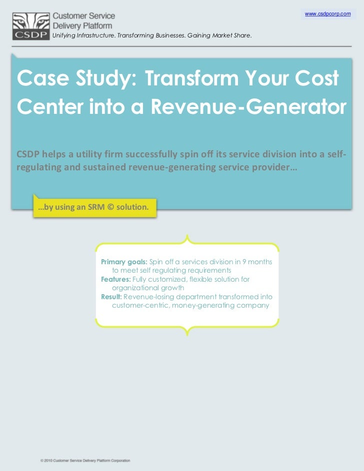 Transform Your Cost Center into a Revenue-Generator