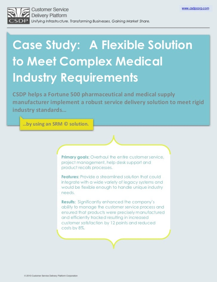 A Flexible Solution to Meet Complex Medical Industry Requirements