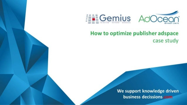 How to optimize publisher adspace