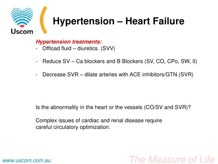 Hypertension Blood pressure levels are a function of cardiac output  multiplied by peripheral resistance  the studylib net