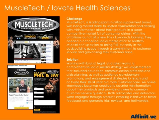 ChallengeMuscleTech, a leading sports nutrition supplement brand,was losing market share to upstart competitors and dealin...