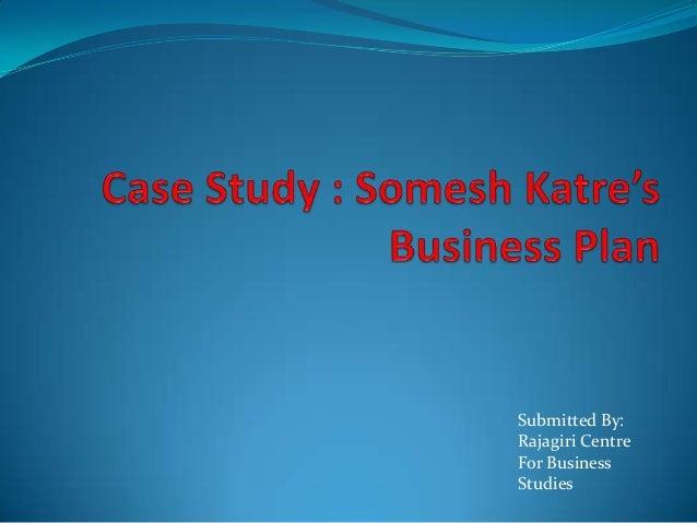 Somesh Katre's Business Plan - Solved