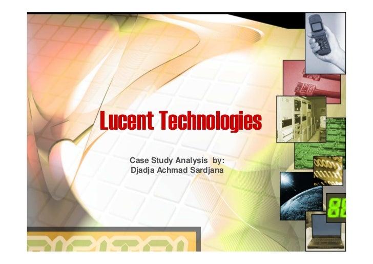 Case Study Analysis Lucent Technologies