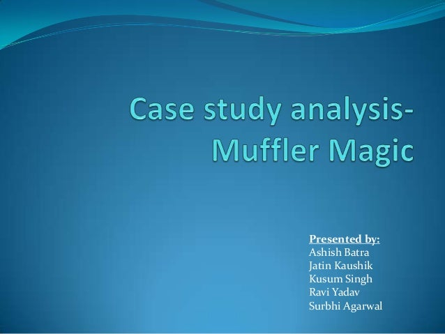 """muffler magic case study We will write a custom essay sample on alltel pavilion case specifically for you  comprehensive case """"muffler magic""""  case study  send me this sample ."""