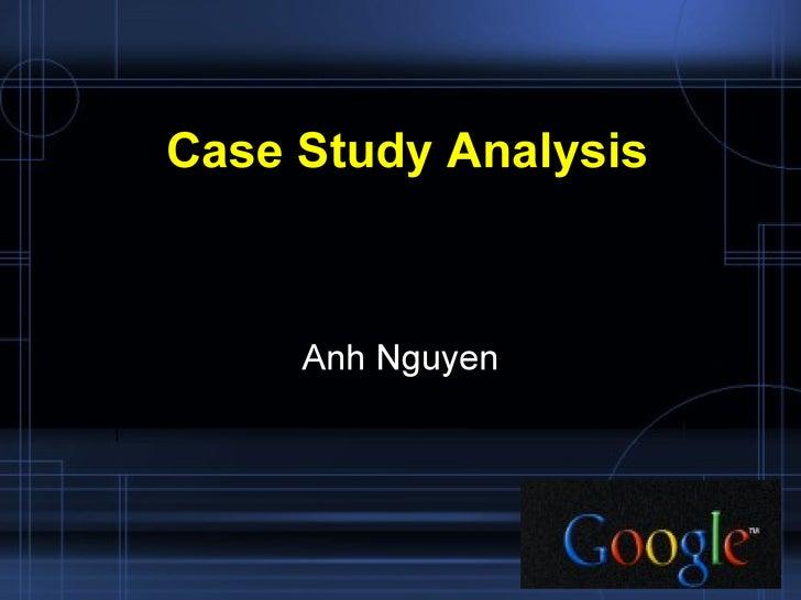 Case study analysis essay
