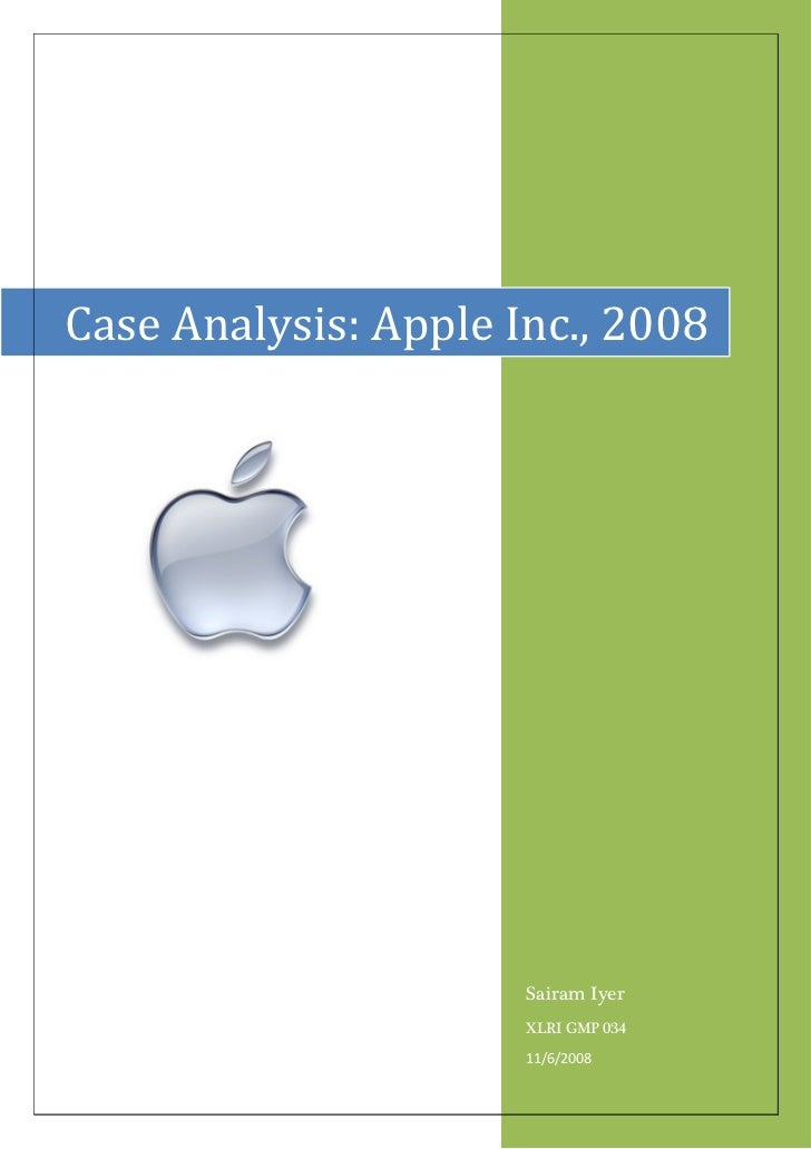 case study- apple inc 2008 essay Corporate strategy for apple inc company - judith zylla-woellner - term paper   publish your bachelor's or master's thesis, dissertation, term paper or essay   marketing, inviting communications is basis of this papers analysis apple  in  july 2008 prices, before the us financial crisis, apple stock market  a case  study.