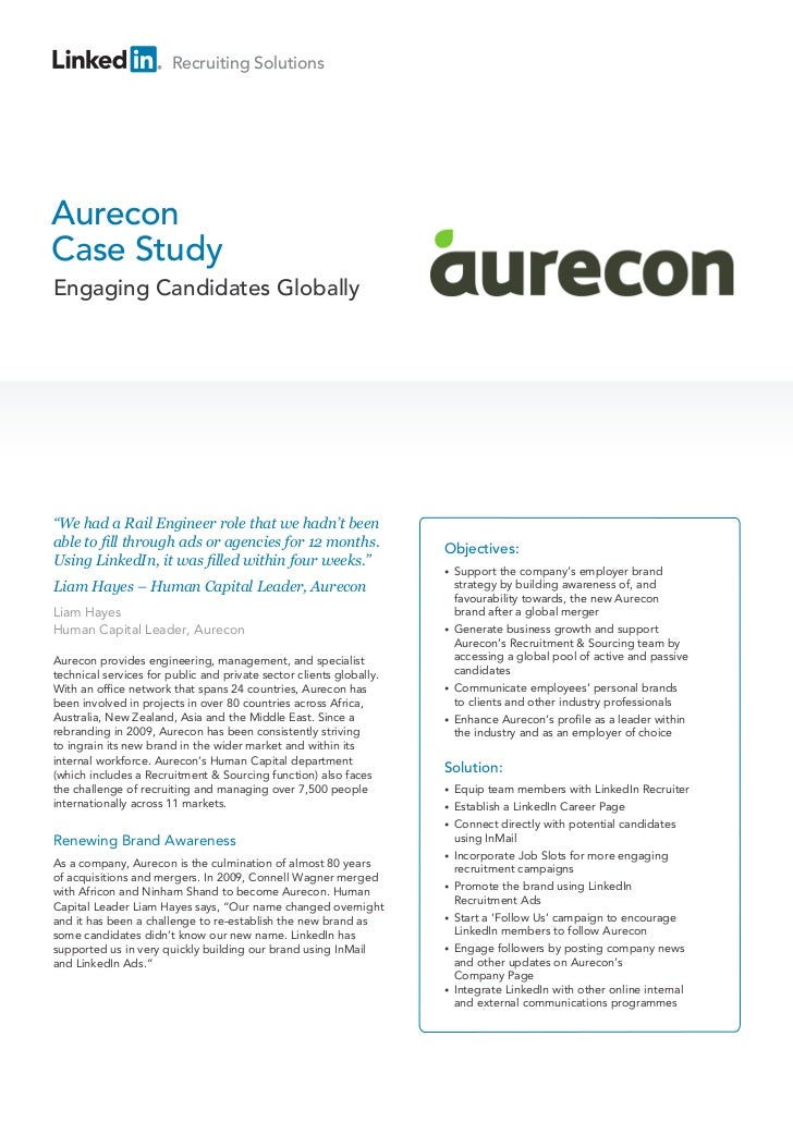Case study aurecon