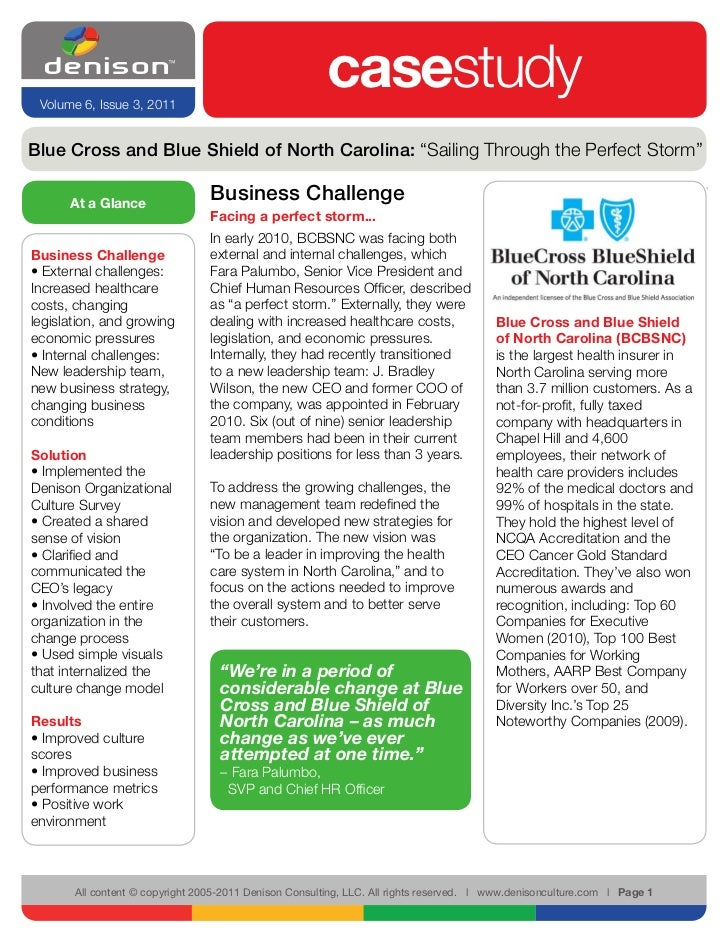 Volume 6, Issue 3, 2011                                                        casestudyBlue Cross and Blue Shield of Nort...