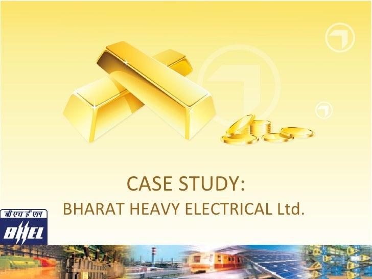 Case study bhel sj