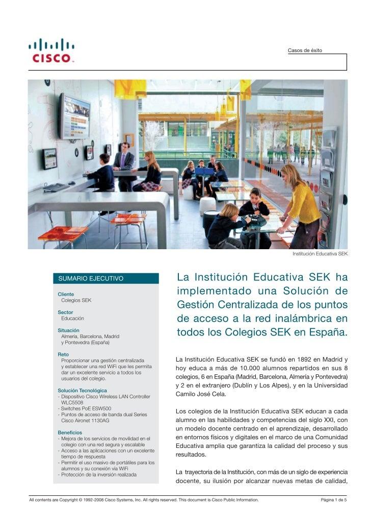 Colegios SEK-Cisco