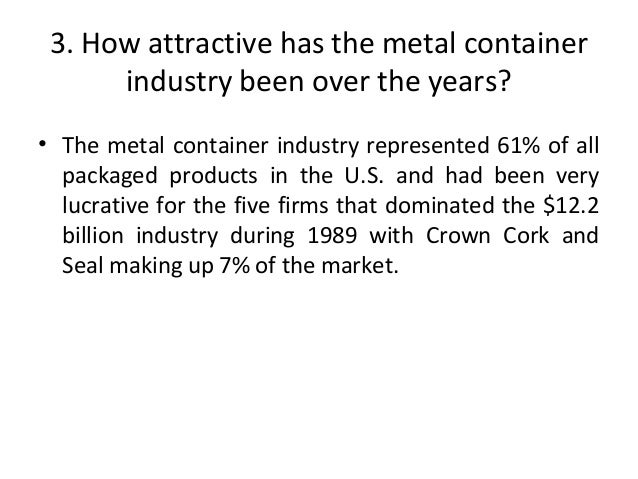 how well did crown cork seal do under john connelly Check out our top free essays on 1 how well did crown cork do under john connelly what were the keys to their  crown cork and seal company, inc analysis which .