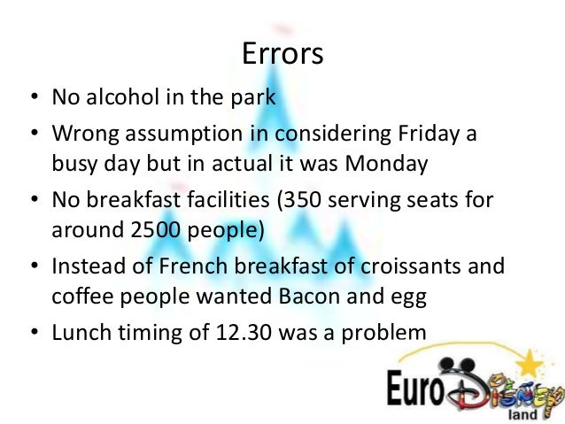 Case study disney in france answers