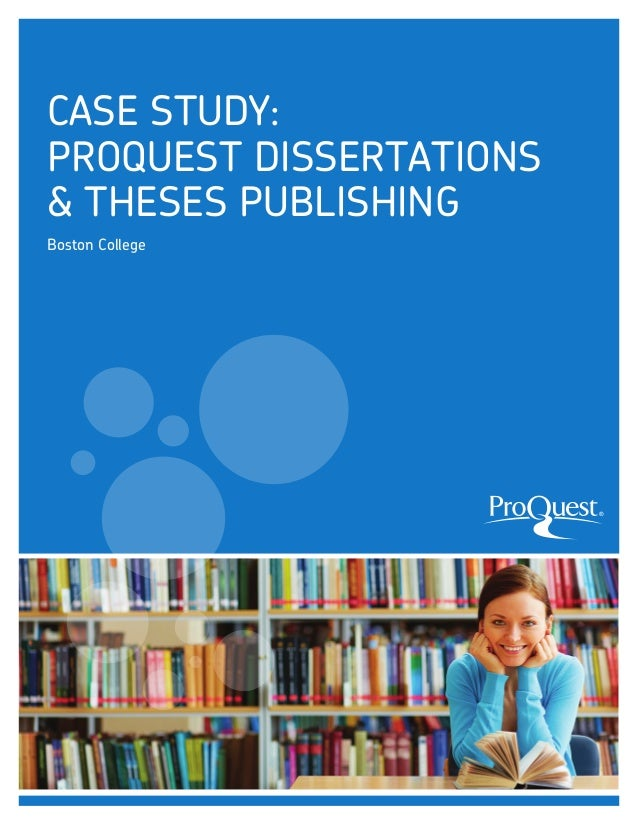Proquest Umi Dissertation Publishing