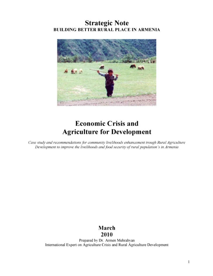 Case study ec and armenian agriculture development