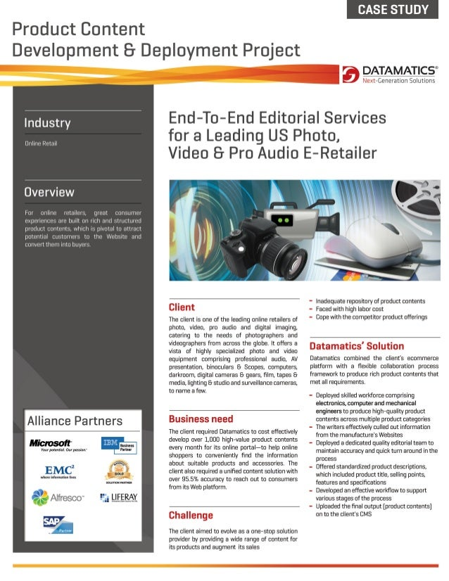 Case Study: Editorial Services