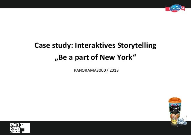 "11 PANORAMA3000 / 2013 Case study: Interaktives Storytelling ""Be a part of New York"""