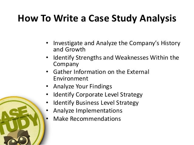 How To Write A Case Study Analysis Paper