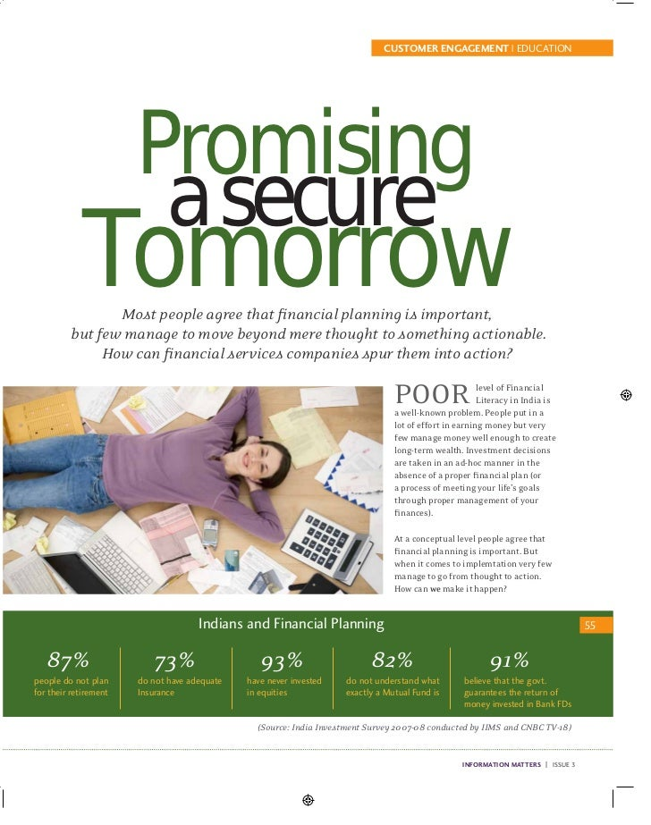 CUSTOMER ENGAGEMENT | EDUCATION                       Promising                        a secure             Tomorrow      ...