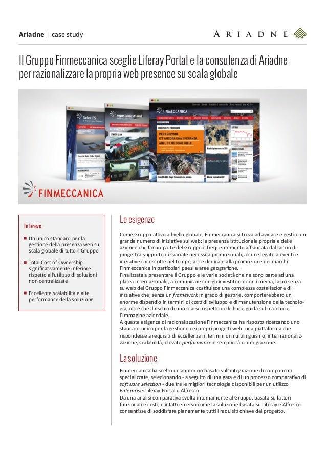 Liferay Portal per il Gruppo Finmeccanica [Case Study]
