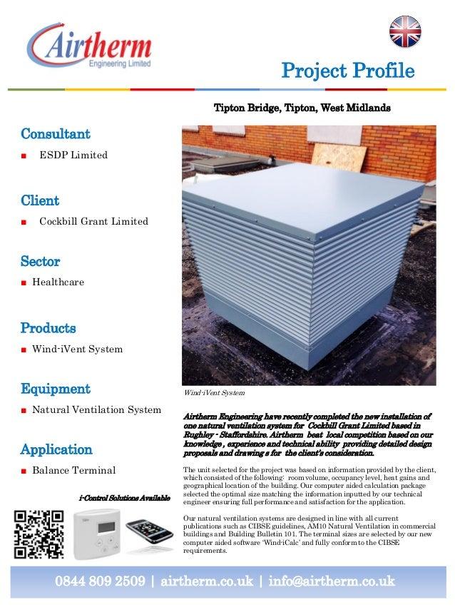 Natural Ventilation Installation - Case study for Bridge House, Tipton