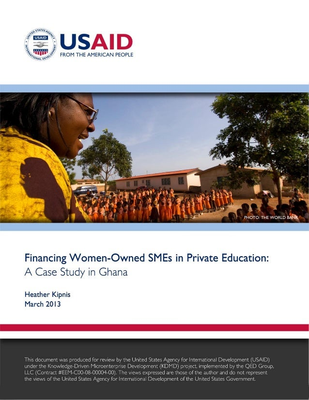 Financing Women-Owned SMEs: A Case Study in Ghana