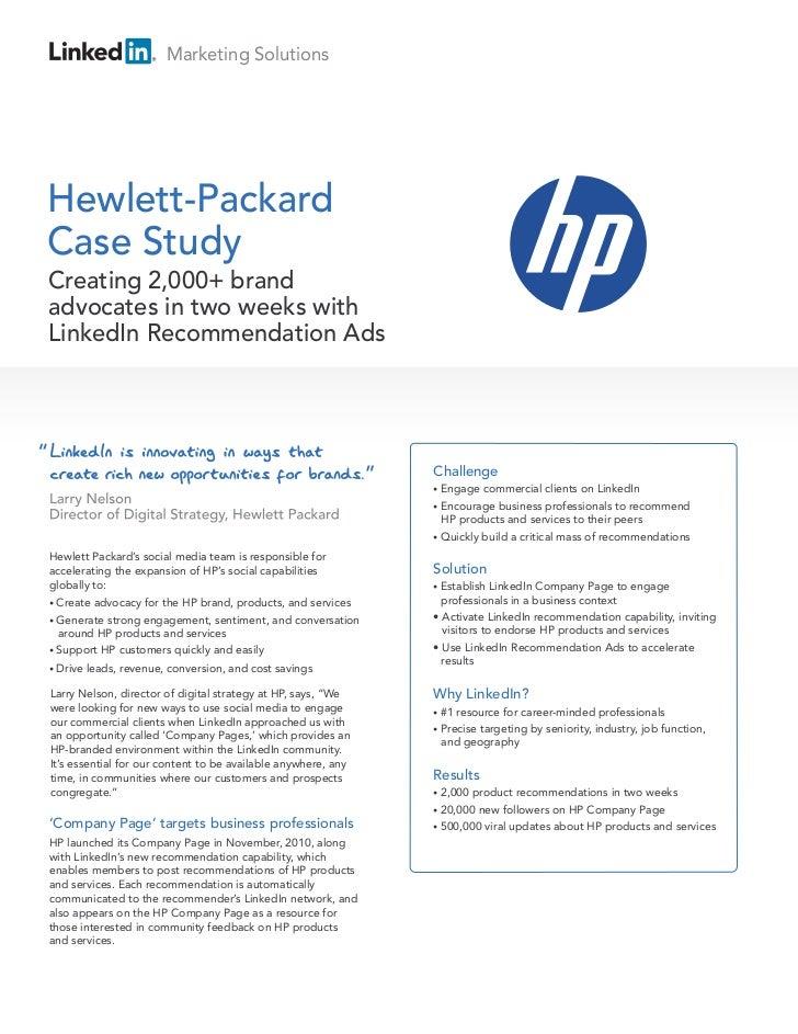 HP Case Study Brand Advocates
